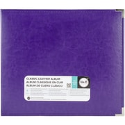 "We R Classic Leather D-Ring Album 12""X12""-Grape Soda"