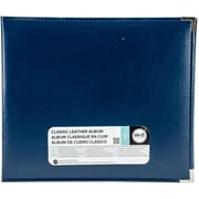 "We R Classic Leather D-Ring Album 12""X12""-Cobalt"