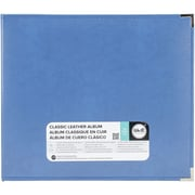 "We R Classic Leather D-Ring Album 12""X12""-Country Blue"