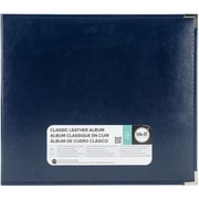 "We R Classic Leather D-Ring Album 12""X12""-Navy"