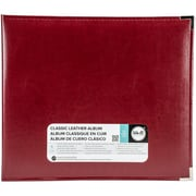 "We R Classic Leather D-Ring Album 12""X12""-Wine"