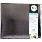"""We R Classic Leather D-Ring Album 12""""X12""""-Silver"""