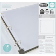 "We R Ring Photo Sleeves 12""X12"" 50/Pkg-Full Page"