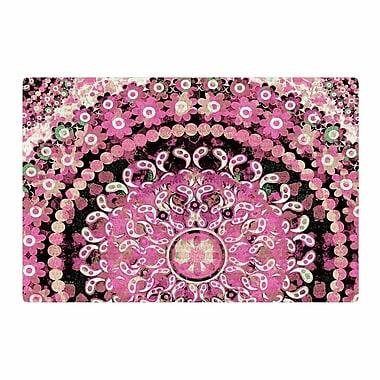East Urban Home Nina May Mosaic Mandala Illustration Pink/Beige Area Rug; 2' x 3'