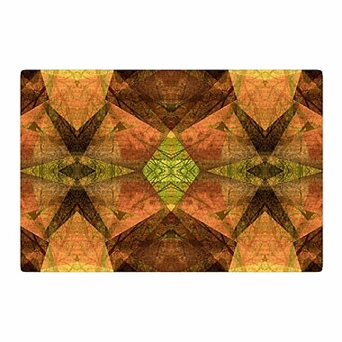 East Urban Home Pia Schneider Pattern Garden No7 Mixed Media Green Area Rug; 2' x 3'