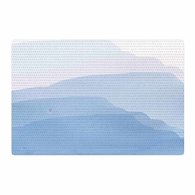 East Urban Home Jennifer Rizzo Layered Mountains Abstract Blue/White Area Rug; 2' x 3'