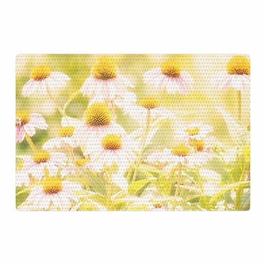 East Urban Home Sylvia Coomes Fields Of Flowers Photography Yellow/Green Area Rug; 2' x 3'