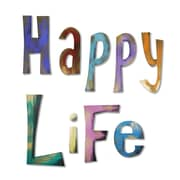 Red Barrel Studio 'Happy Life' Wall Decal