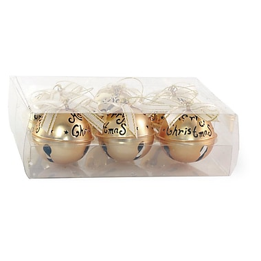 The Holiday Aisle Shining Bell Shaped Ornament (Set of 6); Gold