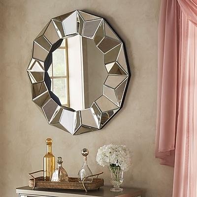 Willa Arlo Interiors Beveled Round Wall Mirror