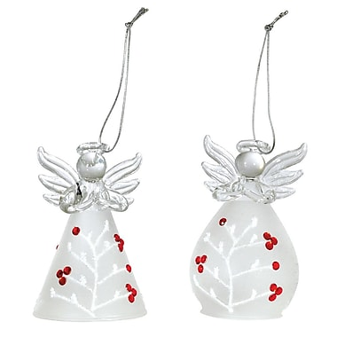 Astoria Grand Angels Holly Berry Shaped Ornament (Set of 2)