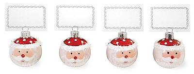 The Holiday Aisle Santa Shaped Ornament (Set of 4) WYF078281742809