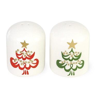 Boston International O Christmas Tree Salt and Pepper Set