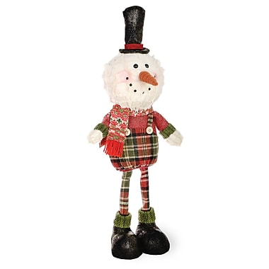 The Holiday Aisle Plaid Pals Standing Snowman Figurine