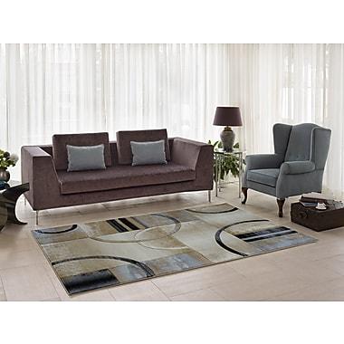Ebern Designs Collier Beige/Gray Area Rug; 5'2'' x 7'5''
