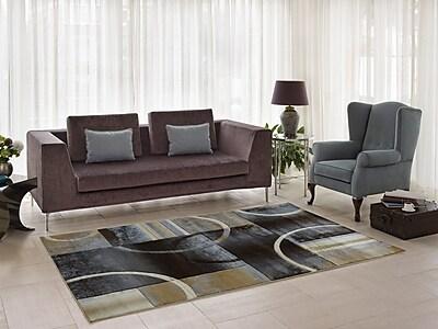 Ebern Designs Collier Black/Gray Area Rug; 3'9'' x 5'5''