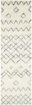 Mistana Lockheart Geometric Hand-Tufted Beige/Blue Area Rug