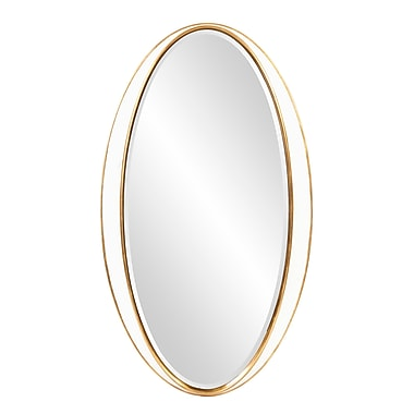 Willa Arlo Interiors Brilliana Oval Gold Trimmed Accent Wall Mirror