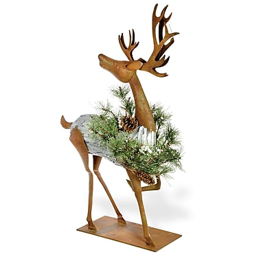 The Holiday Aisle Metal Jolly Reindeer Figurine