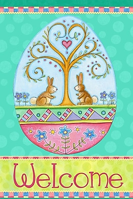 The Cranford Group Welcome Easter Bunnies Garden Flag