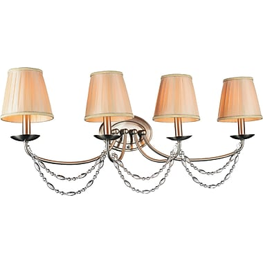 CrystalWorld Paulie 4-Light Candle Sconce