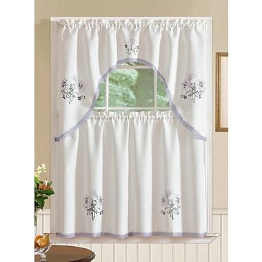 August Grove Gerberoy Lily 3 Piece Kitchen Curtain Set