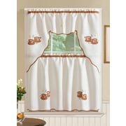 Winston Porter Mayer Coffee 3 Piece Kitchen Curtain Set