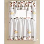 August Grove Gironde Pear 3 Piece Kitchen Curtain Set