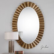 Mistana Oval Wall Mounted Metal Frame Mirror