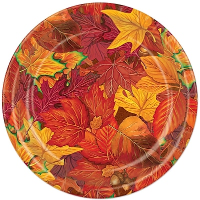 The Beistle Company Fall/Thanksgiving Fall Leaf Plate
