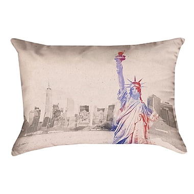 Brayden Studio Houck Watercolor Statue of Liberty Pillow Cover
