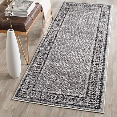 Mistana Norwell Ivory / Silver Area Rug; Runner 2'6'' x 8'