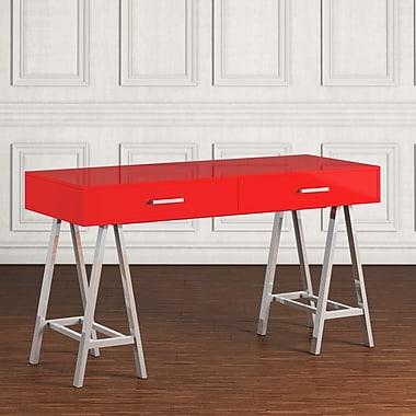 Willa Arlo Interiors Laurinda Writing Desk; Red