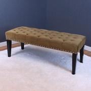 Willa Arlo Interiors Erling Upholstered Dining Bench; White Velvet