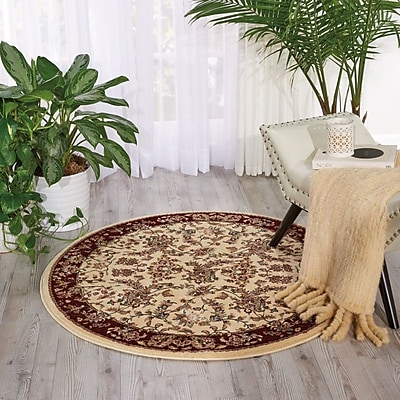 Astoria Grand Mazee Ivory Area Rug; Rectangle 9'10'' x 13'2''