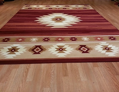 Rug Tycoon Red Area Rug; 7'11''x9'10''