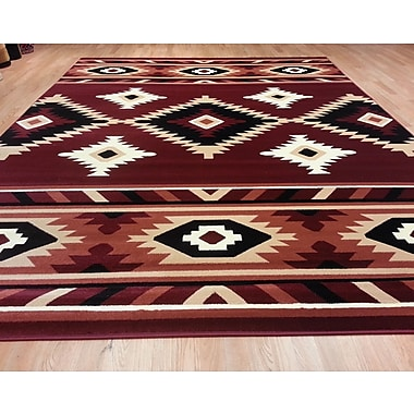 Rug Tycoon Red Area Rug; 5'3''x7'2''