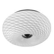 Dainolite 2LT Mackerel Glass Flush Mount 8 x 11 x 11 in White (8912FH-SC)