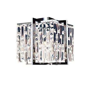 Dainolite – Plafonnier en cristal à 4 lumières, 11 x 12 x 12 po, chrome poli (ALR-124FH-PC)