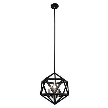 Dainolite 3LT Chandelier 16 x 13 x 13 in Matte Black (ARC-143C-SC)