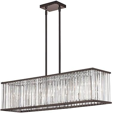 Dainolite – Lustre en cristal horizontal, 7 ampoules, 8 x 36 x 9 po, bronze rétro huilé (ARU-306HP-VOB)