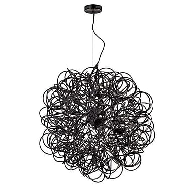 Dainolite 8LT Tubular Pendant 24 x 24 x 24 in Black (BAY-248LP-BK)