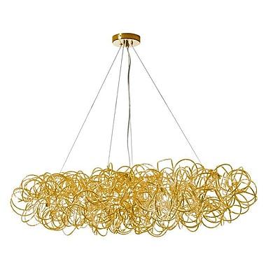 Dainolite – Luminaire suspendu tubulaire horizontal, 8 lumières, 10 x 41 x 18 po, doré (BAY-418HP-GLD)