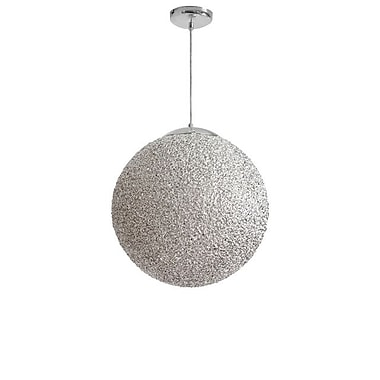 Dainolite 2LT 20in Acrylic Ball Pendant 20 x 20 x 20 in Chrome (BLA-202P-CH)