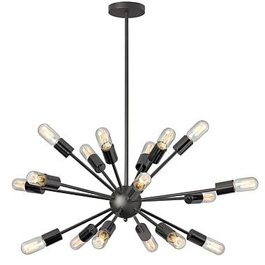Dainolite 18LT Satellite Horiz Pendant W T14 Vintage Bulbs 18 x 34 x 34 in Matte Black (BRI-1830HP-MB)