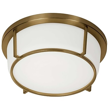 Dainolite 10in LED Flush Mount 4.5 x 13 x 13 in Vintage Bronze (CFLED-B1316-VB)