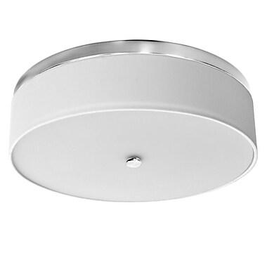 Dainolite 20in LED Flush Mount 4.75 x 20 x 20 in Satin Chrome (CFLED-D2025-SC)