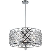 Dainolite 5LT Large Pendant With Crystals Balls 12.5 x 22 x 22 in Polished Chrome (CRE-225C-PC)