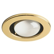 Dainolite – Lumière encastrée avec bordure ouverte, caisson Dl4000, 6 x 3,5 x 3,5, laiton poli (DL400-PB)