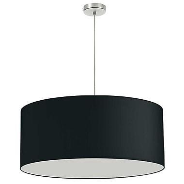 Dainolite – Luminaire de 28 po de diamètre, 1 ampoule, 16,5 x 28 x 28 po, noir (DRM-L-797)